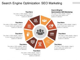 Search Engine Optimization SEO Marketing Ppt Powerpoint Presentation Infographic Template Objects Cpb