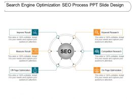 Search Engine Optimization Seo Process Ppt Slide Design