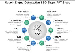 Search Engine Optimization Seo Shape Ppt Slides