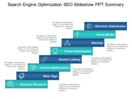 Search Engine Optimization Seo Slideshow Ppt Summary