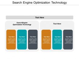 Search Engine Optimization Technology Ppt Powerpoint Presentation Icon Example Cpb