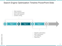 Search Engine Optimization Timeline Powerpoint Slide