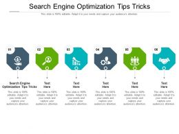 Search Engine Optimization Tips Tricks Ppt Powerpoint Presentation Professional Shapes Cpb