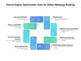 Search Engine Optimization Tools For Better Webpage Ranking