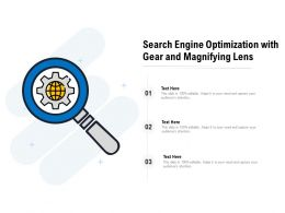 Search Engine Optimization With Gear And Magnifying Lens