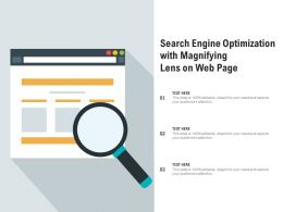 Search Engine Optimization With Magnifying Lens On Web Page