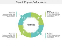 Search Engine Performance Ppt Powerpoint Presentation Summary Backgrounds Cpb