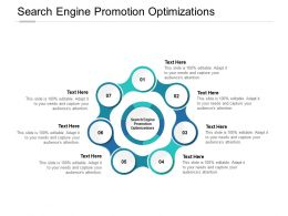 Search Engine Promotion Optimizations Ppt Powerpoint Presentation Pictures Infographic Cpb