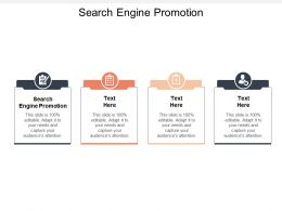 Search Engine Promotion Ppt Powerpoint Presentation Gallery Sample Cpb