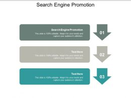 Search Engine Promotion Ppt Powerpoint Presentation Pictures Influencers Cpb