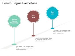 Search Engine Promotions Ppt Powerpoint Presentation Gallery Clipart Images Cpb