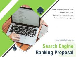 Search Engine Ranking Proposal Powerpoint Presentation Slides
