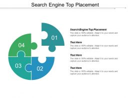 Search Engine Top Placement Ppt Powerpoint Presentation Gallery Structure Cpb