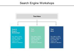 Search Engine Workshops Ppt Powerpoint Presentation Professional Inspiration Cpb