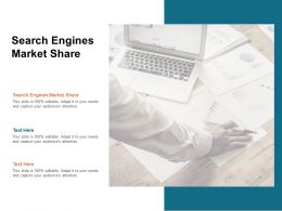Search Engines Market Share Ppt Powerpoint Presentation Professional Format Cpb