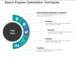 Search Engines Optimization Techniques Ppt Powerpoint Presentation Summary Slides Cpb