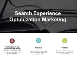 Search Experience Optimization Marketing Ppt Powerpoint Presentation Outline Styles Cpb