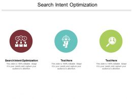Search Intent Optimization Ppt Powerpoint Presentation Outline Visual Aids Cpb