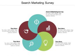 Search Marketing Survey Ppt Powerpoint Presentation Slides Icons Cpb