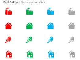 Search Realestate Factory For Sale Home Dimensions Ppt Icons Graphics
