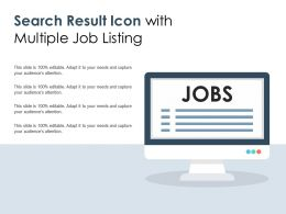 Search Result Icon With Multiple Job Listing