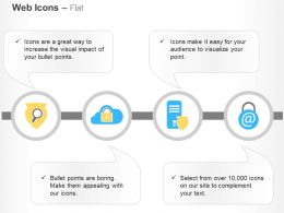 Search Shield Cloud Security Storage And Email Protection Ppt Icons Graphics