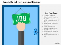 Search The Job For Future And Success Flat Powerpoint Design