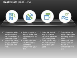 Searching Multistory Apartment Architectural Facilities Swimming Pool Ppt Icons Graphics