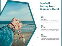 Seashell Falling From Womans Hand