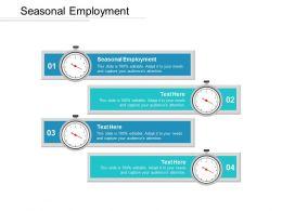 Seasonal Employment Ppt Powerpoint Presentation Ideas Slide Cpb