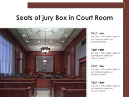 Seats Of Jury Box In Court Room