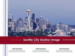 Seattle City Skyline Image Powerpoint Presentation PPT Template