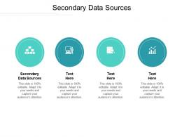 Secondary Data Sources Ppt Powerpoint Presentation Summary Deck Cpb