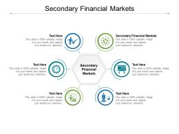 Secondary Financial Markets Ppt Powerpoint Presentation Background Images Cpb
