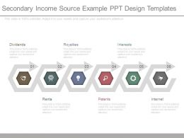 Secondary Income Source Example Ppt Design Templates