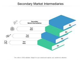 Secondary Market Intermediaries Ppt Powerpoint Presentation Infographic Template Inspiration Cpb