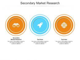 Secondary Market Research Ppt Powerpoint Presentation Icon Guide Cpb