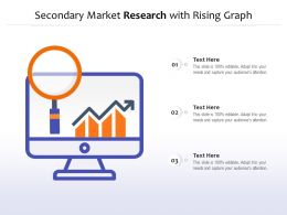 Secondary Market Research With Rising Graph