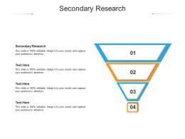 Secondary Research Ppt Powerpoint Presentation Icon Themes Cpb