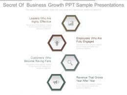 Secret Of Business Growth Ppt Sample Presentations
