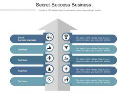 Secret Success Business Ppt Powerpoint Presentation Layouts Template Cpb