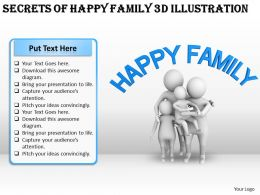 Secrets Of Happy Famiy 3d Illustration Ppt Graphics Icons Powerpoint