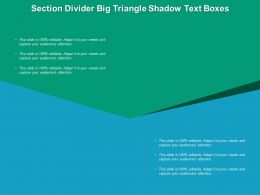 Section Divider Big Triangle Shadow Text Boxes
