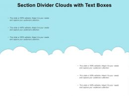 Section Divider Clouds With Text Boxes