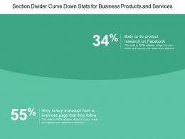 Section Divider Curve Down Stats For Business Products And Services