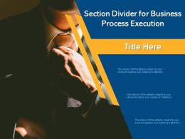 Section Divider For Business Process Execution