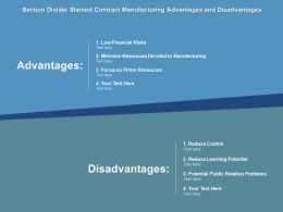Section Divider Slanted Contract Manufacturing Advantages And Disadvantages