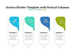 Section Divider Template With Vertical Columns