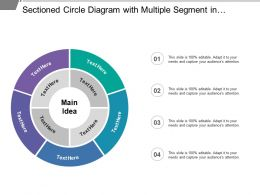 Sectioned Circle Diagram With Multiple Segment In Different Colors