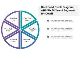Sectioned Circle Diagram With Six Different Segment For Detail